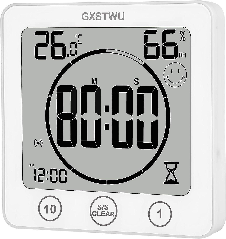 Weiß Thermometer 20pack Hygrometer Timer Uhren weiß GXSTWU Digitale ...