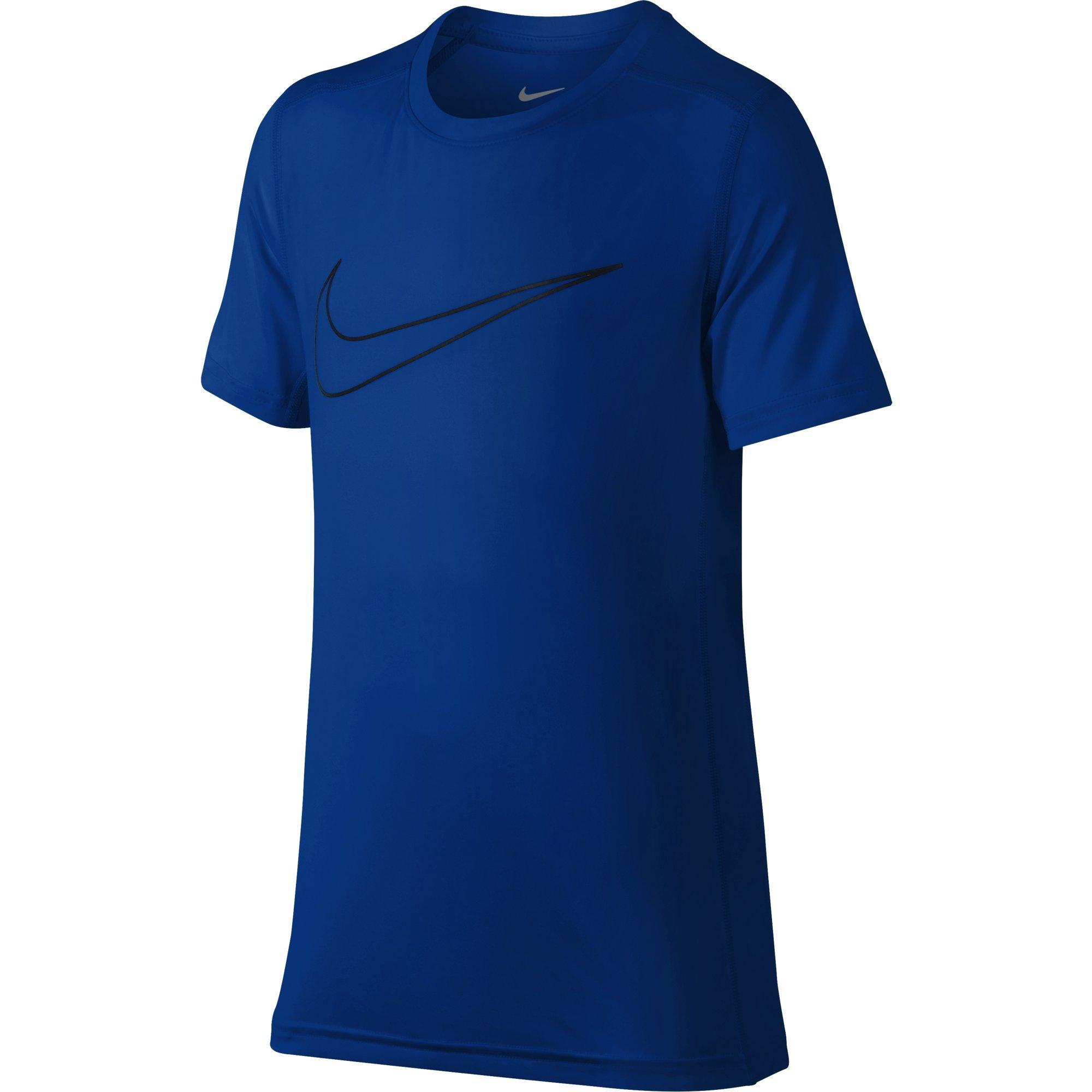 NIKE Boys' Short-Sleeve Training Shirt, Hyper Royal, Small