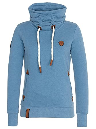 Naketano Damen Sweater Debil im Stil Hoodie