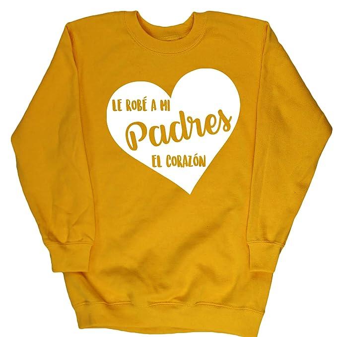 HippoWarehouse LES ROBÉ A MIS PADRES EL CORAZÓN jersey sudadera suéter derportiva unisex niños niñas: Amazon.es: Ropa y accesorios