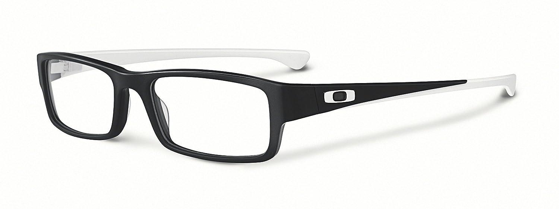 3f0817a82a2 Oakley Rx Eyewear Men s Ox1066 Servo Satin Black   White Frame Plastic  Eyeglasses