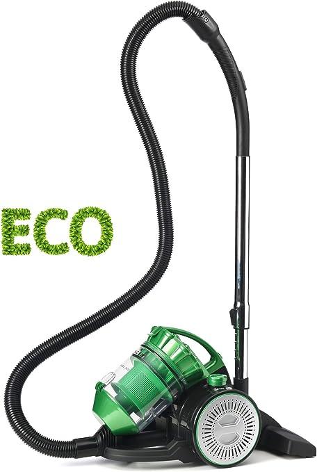 Singer VC3800 Eco Double - Aspirador Sin Bolsa Multi Ciclónico, 2 en 1 con Soplador, Trineo, Silencioso, Máxima potencia de succión, Filtros HEPA: Amazon.es: Hogar