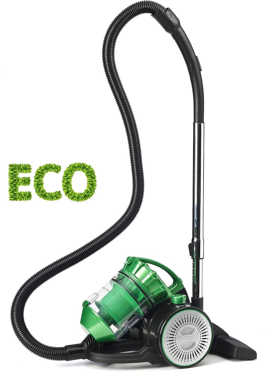 Potente Singer Eco Double VC3800 Aspirapolvere per Casa Senza Sacco Ciclonico Esclusivo 2 in 1 con Soffiatore Portatile