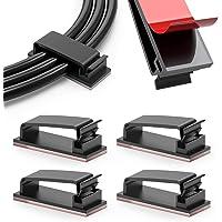 100 Pack kabelbeheerklemmen, zelfklevende draadhouders, kabelorganisatoren draadbeheer multifunctionele draadclipklemmen…