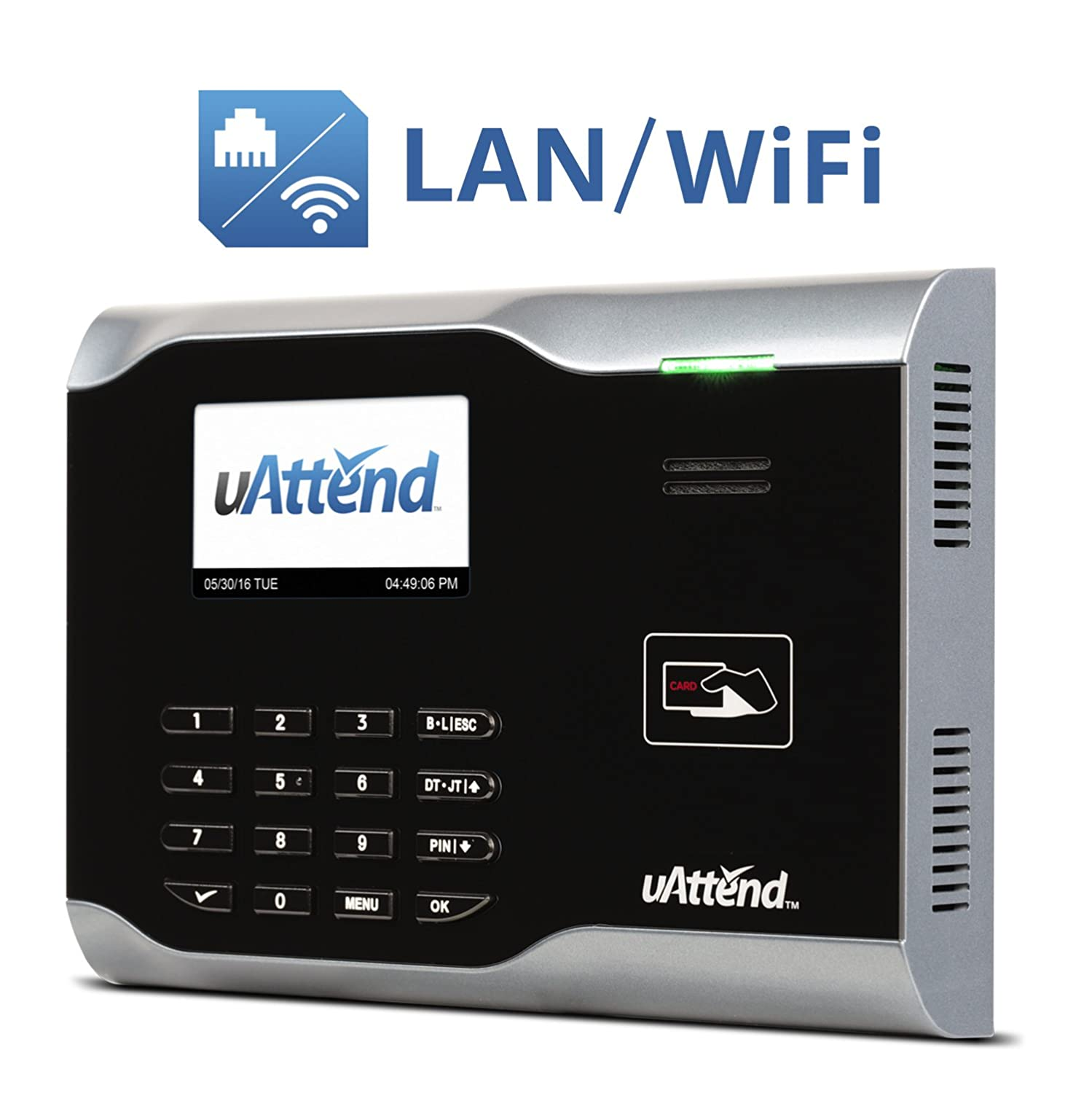 uAttend CB6500 Wi-Fi Employee Management Time Clock Processing Point Inc.