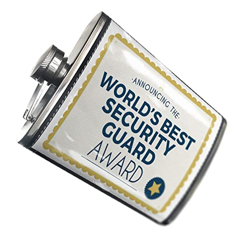 Amazon com | NEONBLOND Flask Worlds Best Security Guard