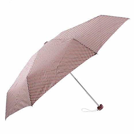 Paraguas mujer de cuadros Talla: U Color: BURDEOS