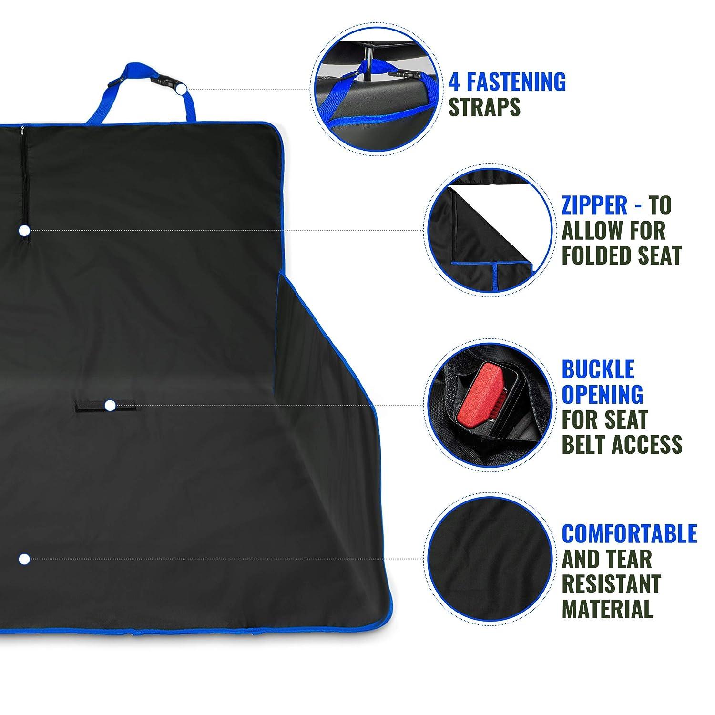 Livivo/® Funda 2/en 1/resistente al agua para asiento trasero y maletero de coche
