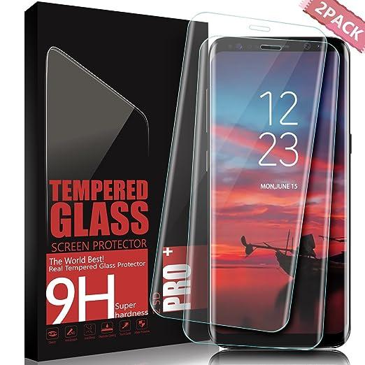 61 opinioni per Vetro Temperato Samsung Galaxy S8 Plus, SGIN [2 pack] 3D copertura completa