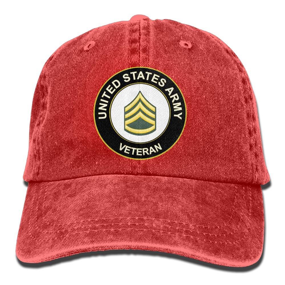 KERLANDER US Army Staff Sergeant Veteran Adjustable Washed Twill Baseball Cap Dad Hat