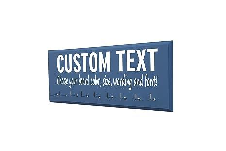 amazon com custom text race bib and medal holder hanger for