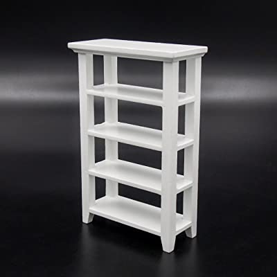 Odoria 1:12 Miniature Wooden Storage Bookshelf Display Rack Dollhouse Furniture Accessories: Toys & Games