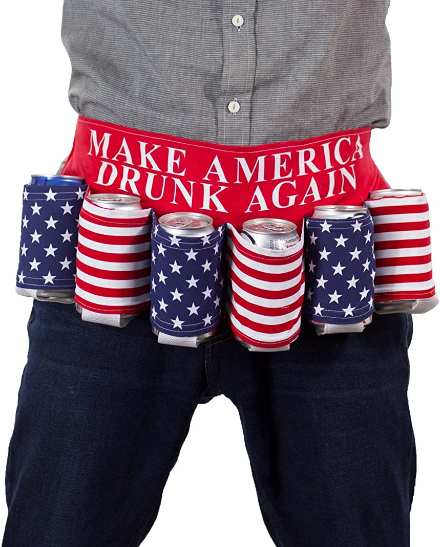 Novelty USA Americana Themed Beverage Holder Beer Belt