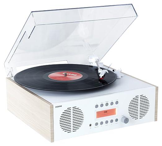 40 opinioni per ION Audio Digital LP Impianto Stereo Vintage 4 in 1 con Giradischi, Radio