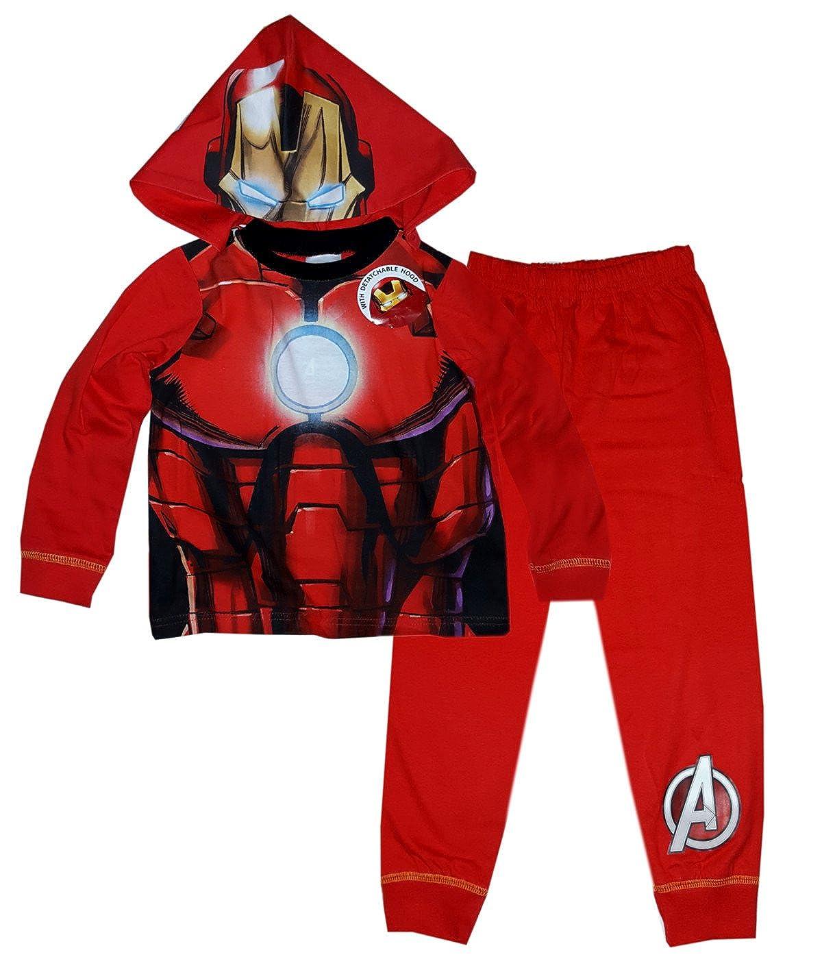 The Hulk Boys Avengers Capt America Novelty Pajamas Pj Age 2-8 Years