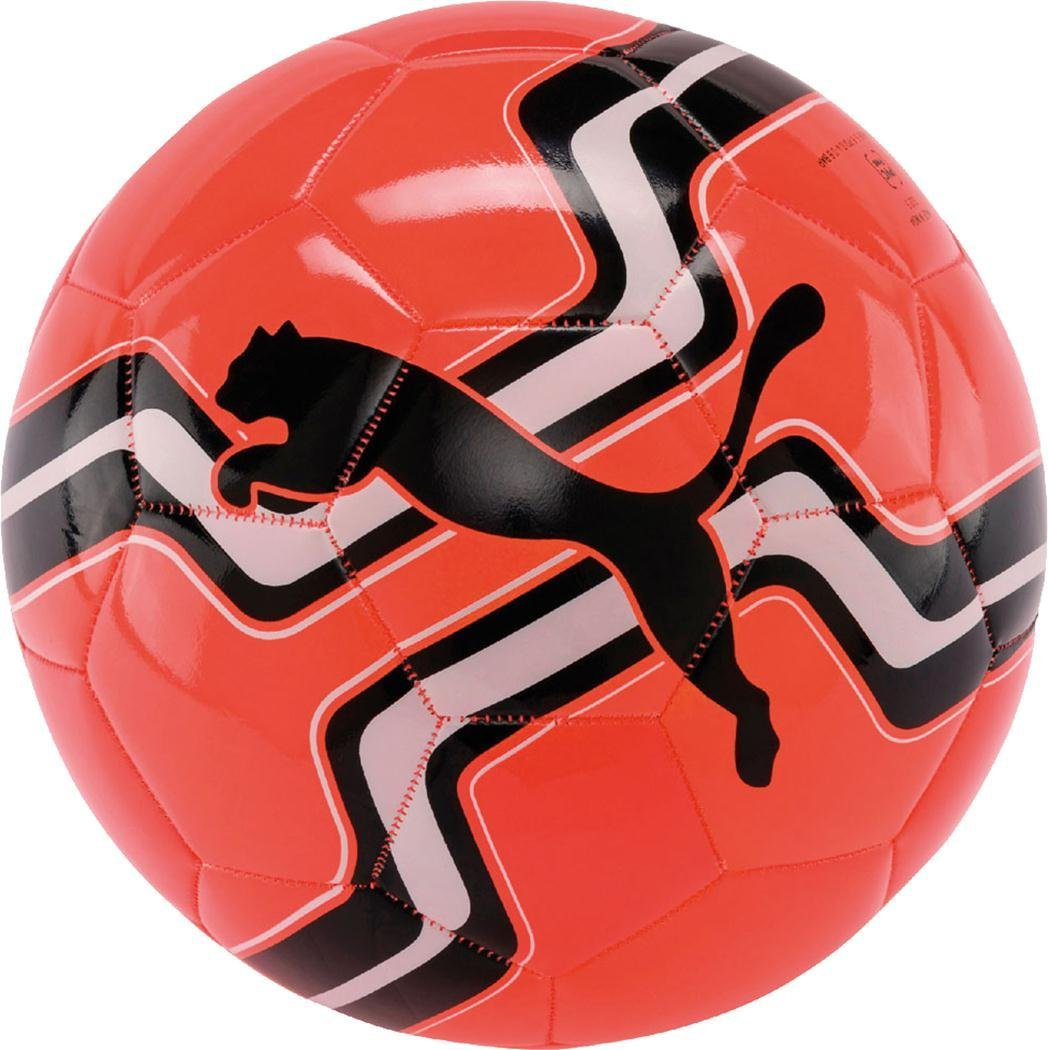 Puma Big Catトレーニングサッカースポーツボールコーラル/ブラック/ホワイト B071NH9HYW Size 3