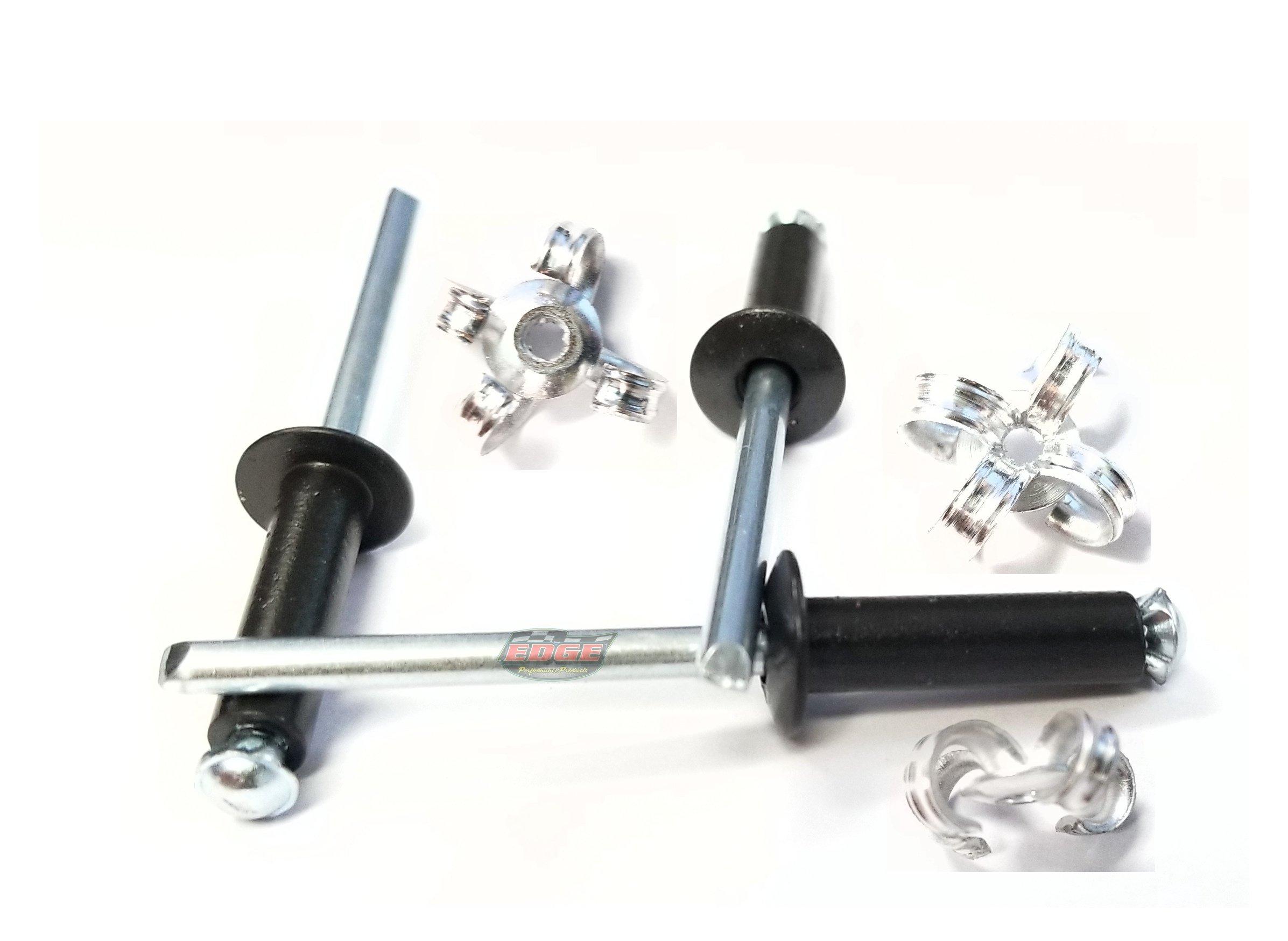 Racer's Speed Shop 3/16'' Small Head Peel-Back Aluminum, Steel Mandrel Pop Rivets 250ct (Flat Black)