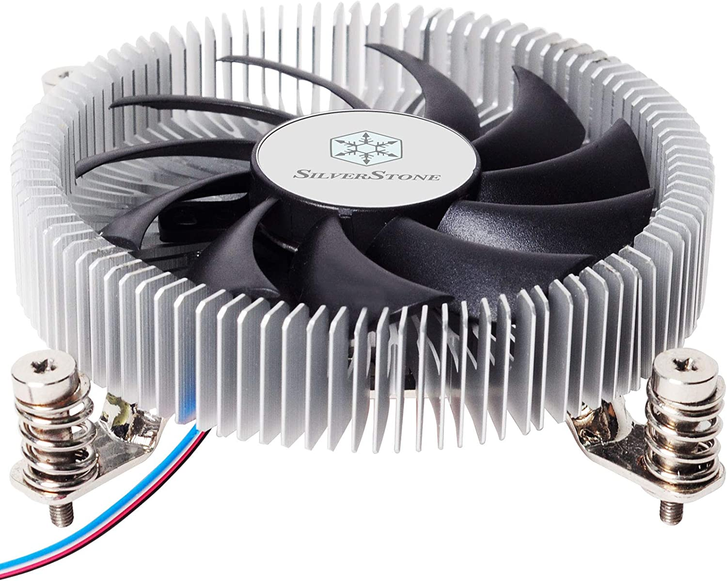 SilverStone Technology SST-NT07-115X-USA LGA1150//1151//1155//1156 CPU Cooler Low Profile 23mm Tall for 65W TDP Support with 80mm PWM Fan SST-NT07-115X