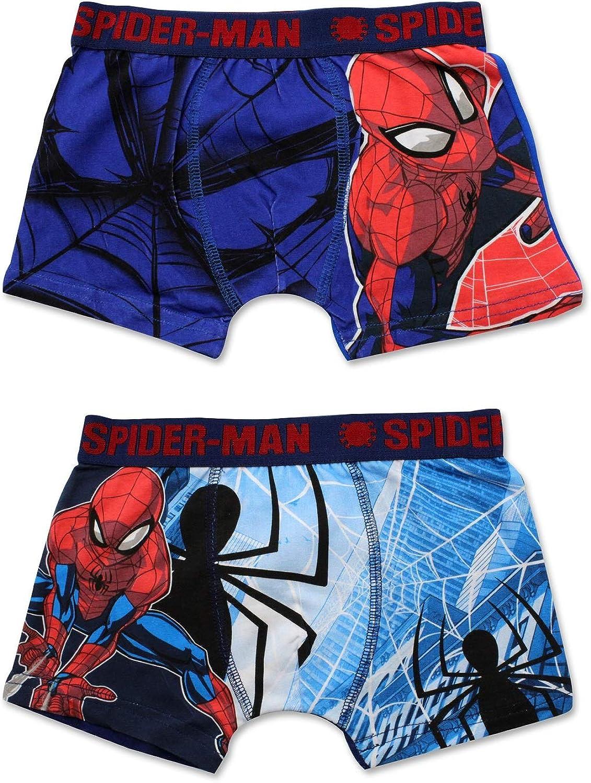 New Boys Spider-Man Trunk Children Thomas 2 in A Pack Underwear Age 2-8 Years