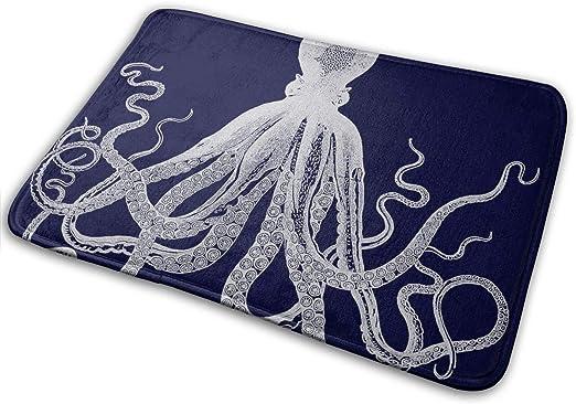 Door Mat Bathroom Rug Bedroom Carpet Bath Mats Non-Slip Mermaid and octopus
