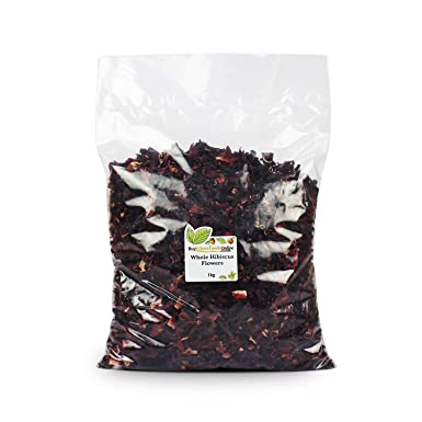Hibiscus Flowers Whole Petals 1kg Buy Whole Foods Online Ltd