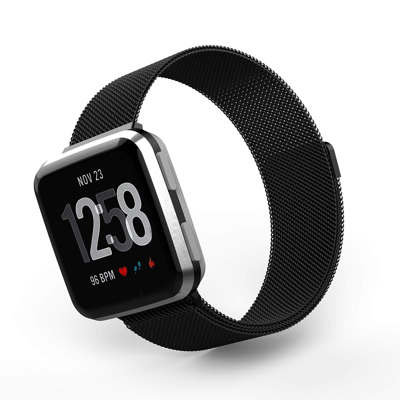 激安単価で Tecson for Fitbit Versaバンド Fitbit Tecson ブラック、ステンレススチールメタルMilanese Loop交換用ストラップwithマグネットロックfor Fitbit Versa Smart Watch、ローズゴールド、Sliver、ブラック、チャコール、カラフルな B07CKTCGT7 ブラック ブラック, ビール漬けの素さとやま:82d29cbe --- beyonddefeat.com