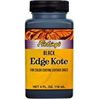 Fiebing's Edge Kote, 4 Oz. - Color Coats Leather Edges - Black