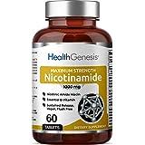 B-3 Nicotinamide 1000 mg 60 Tablets Extra Strength Timed Release - Nicotinic Amide Niacin Natural Flush-Free Vitamin Formula