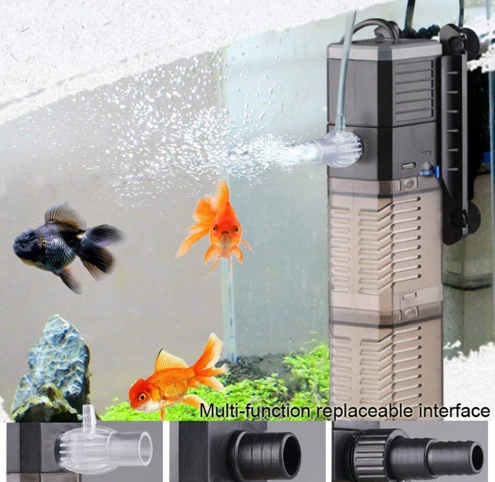 7w L@LILI Fish Tank Filter 3-In-1 Aquarium Submersible Pump Water Pump For Fish Tank 8W 20W 25W,20W,7w
