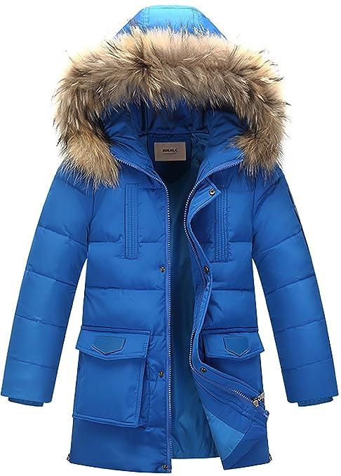 metà fuori 8e335 01046 ZOEREA Piumino Bambino Invernale Giacca Bambina Piumino lungo Cappuccio  Cappotto Ragazzi Snowsuit per Bambini