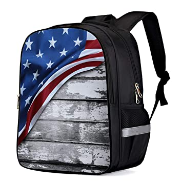 47a2cbfdf491 Amazon.com | Water Resistant School Backpack, 4th of July American ...