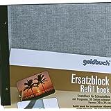 Goldbuch Ersatzblock für Schraubalbum, 30 schwarze Seiten mit Pergamin-Trennblättern, Passend für Alben mit einer Größe von 30 x 25 cm, 83076