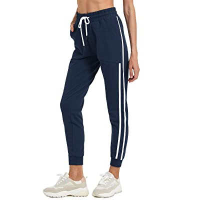 Ogeenier Womens Cotton Joggers Tracksuit Bottom Drawstring Sweatpants with Pockets Running Trousers Lounge Yoga Pants