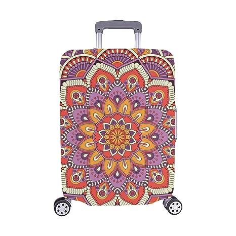 Estampado Floral Abstracto Elementos Decorativos Vintage Patrón Spandex Maleta Trolley de Viaje Maleta Protectora Cubierta 28.5