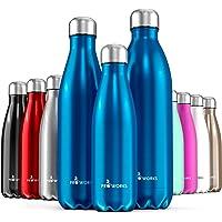 Proworks Bottiglia Acqua in Acciaio Inox, Senza BPA Vuoto Isolato Borraccia Termica in Metallo per Bevande Calde per 12 Ore & Fredde 24 Ore, Borraccia per Sport, Lavoro e Palestra - 500ml / 750ml / 1L