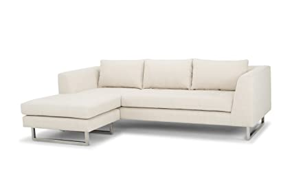 Strange Amazon Com Nuevo Matthew Sectional Sofa In Silver And Sand Ibusinesslaw Wood Chair Design Ideas Ibusinesslaworg