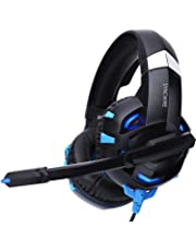 Syncwire Gaming Headset PS4 Kopfhörer - Surround Sound 7.1 Kopfhörer mit Mikrofon & LED-Licht, On Ear Ohrhörer für PS4, PS3, PC, Xbox One, Laptop, LX20, LX30, Nintendo Switch Spiele