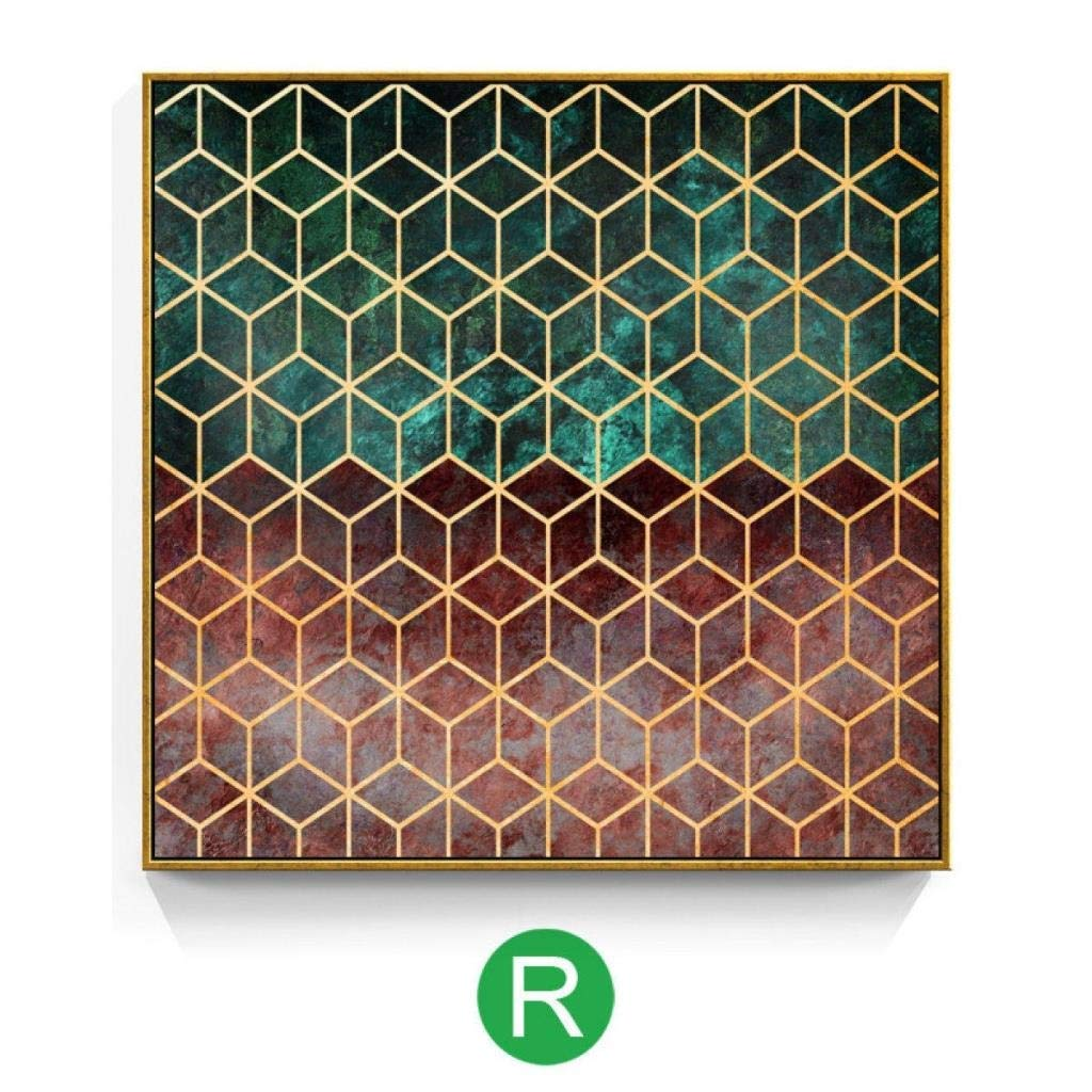 Jjek K Decorative Photo Wall Picture Wall Decorative Painting Mural Upper and Lower Distinction Linear Structure Geometric Three-Dimensional Rectangular Pattern 19.7X 19.7in