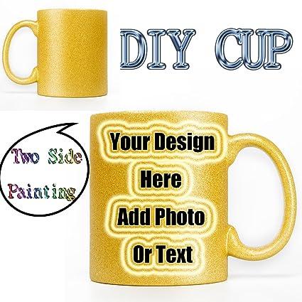 Amazon com: Custom Photo Coffee Mug Cup(11OZ) Personalized