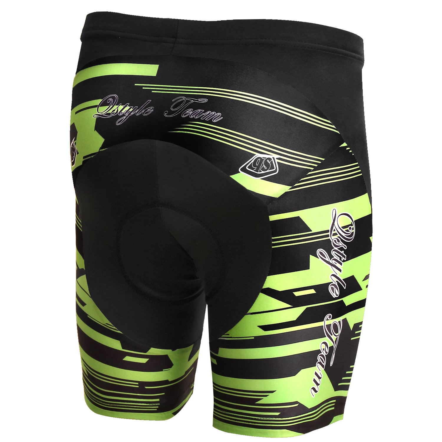 YUWELL Mens Breathable Stretchy Cycling Shorts with 3D Gel Padded UV Protection Tights Pants Quick Dry