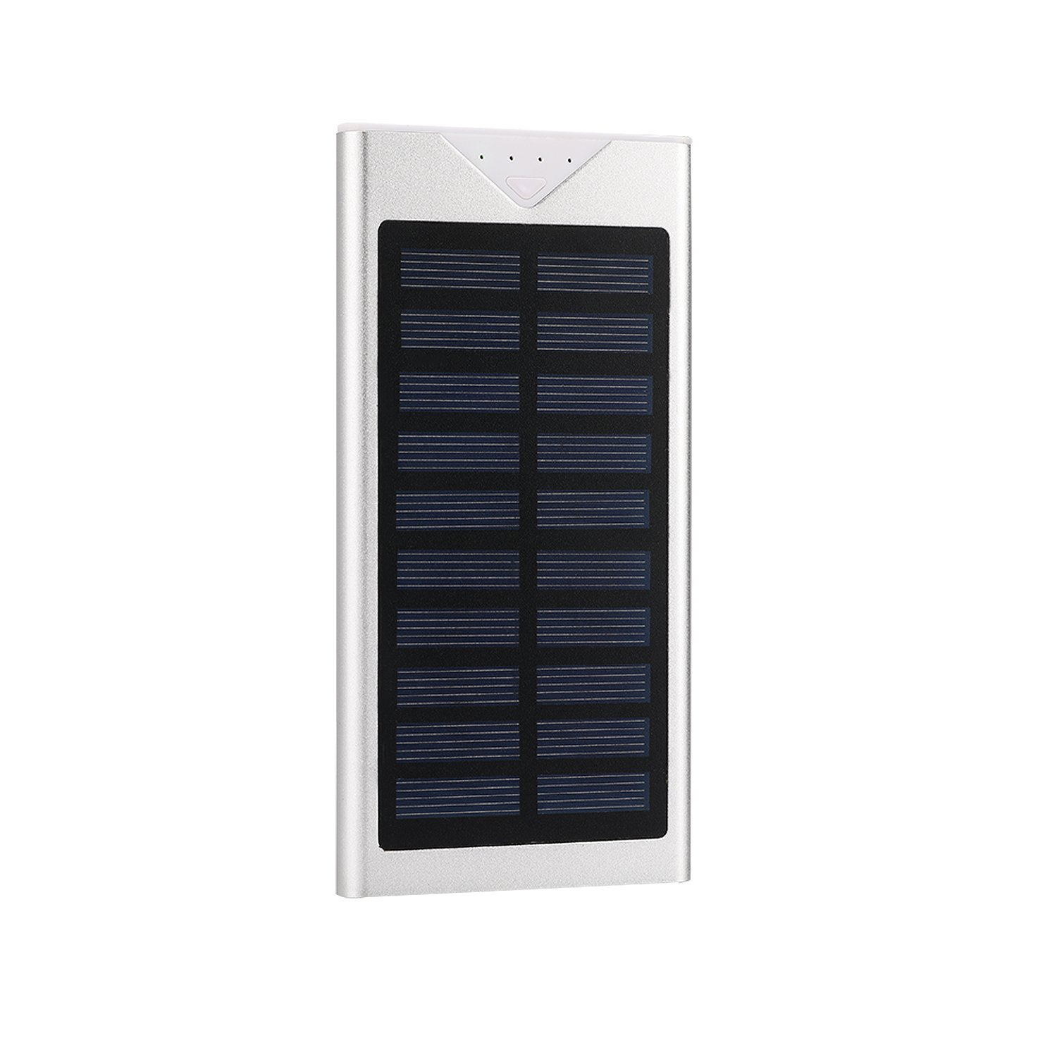 Solar Charger,Electric Camel 10800mAh Portable Solar Power Bank Dual USB LED Battery Charger for Outdoor iPhone,Samsung,Android phones,GoPro Camera,GPS and More (Silver)