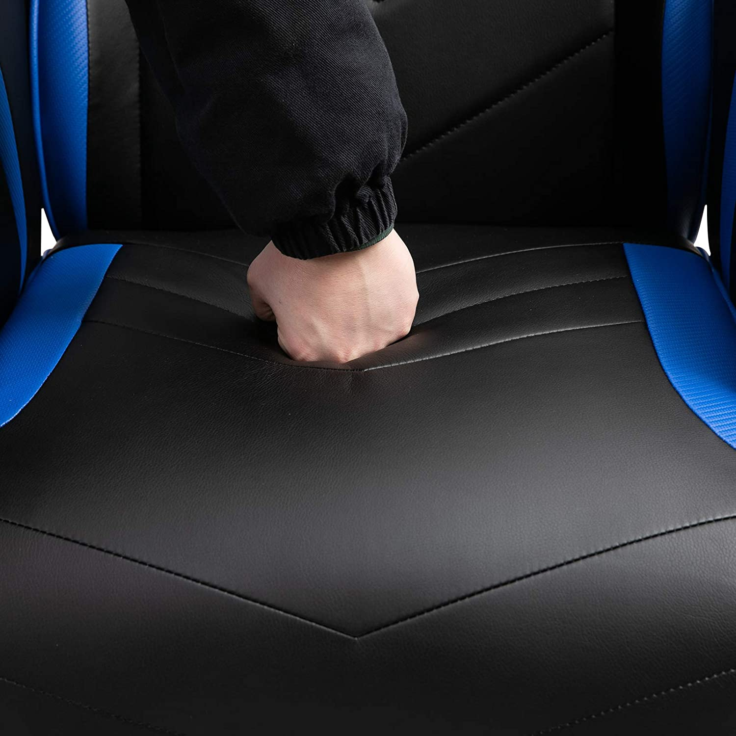 Vinsetto Home Comfortable Office Video Game Sofa Swivel Chair with a Strong Ergonomic Design /& Quality Material Blue