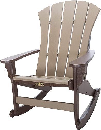 Original Pawleys Island SRAR1CHOWW Durawood Sunrise Adirondack Chair, Chocolate Weatherwood