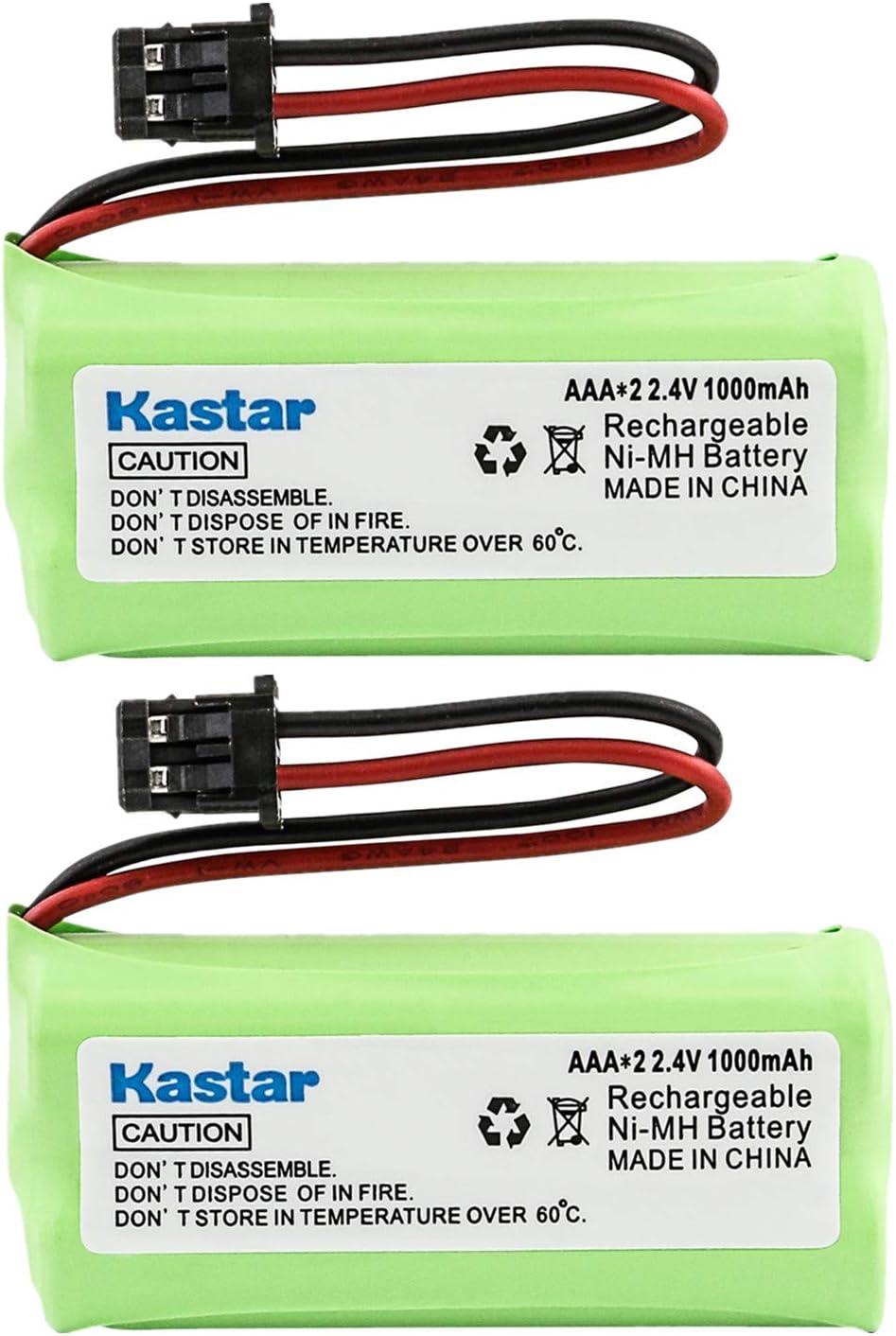 Kastar 2-Pack AAAX2 2.4V MSM 1000mAh Ni-MH Rechargeable Battery for Uniden BT-1008 BT-1016 BT1008S DECT20602 DECT 2080 DECT 2060-2 DWX-207 DECT20854WX DECT21802 Dantona BATT-1008 Empire CPH-515B