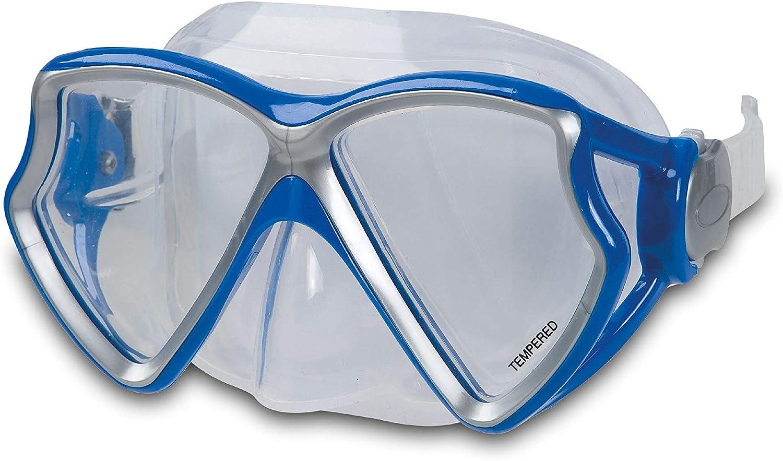 INTEX 55980 Aviator Pro Masque de plong/ée sans phtalates Bicolore