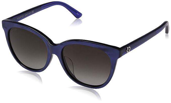 Gucci GG0081SK 005, Gafas de sol Unisex Adulto, Azul (Bluee ...
