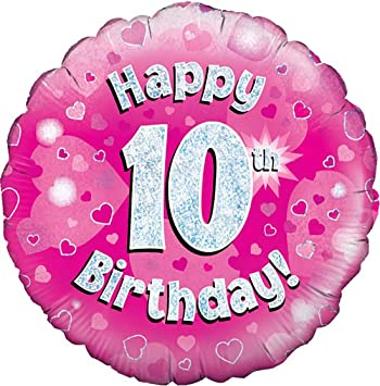 Happy 10th Birthday Balloon Girls