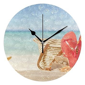 Amazon.com: Dozili - Reloj de pared redondo de madera ...