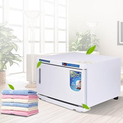 COSTWAY 16L Esterilizador de Toallas Calentador 220V UV para Toallas Gabinete para Hogar SPA Salón de