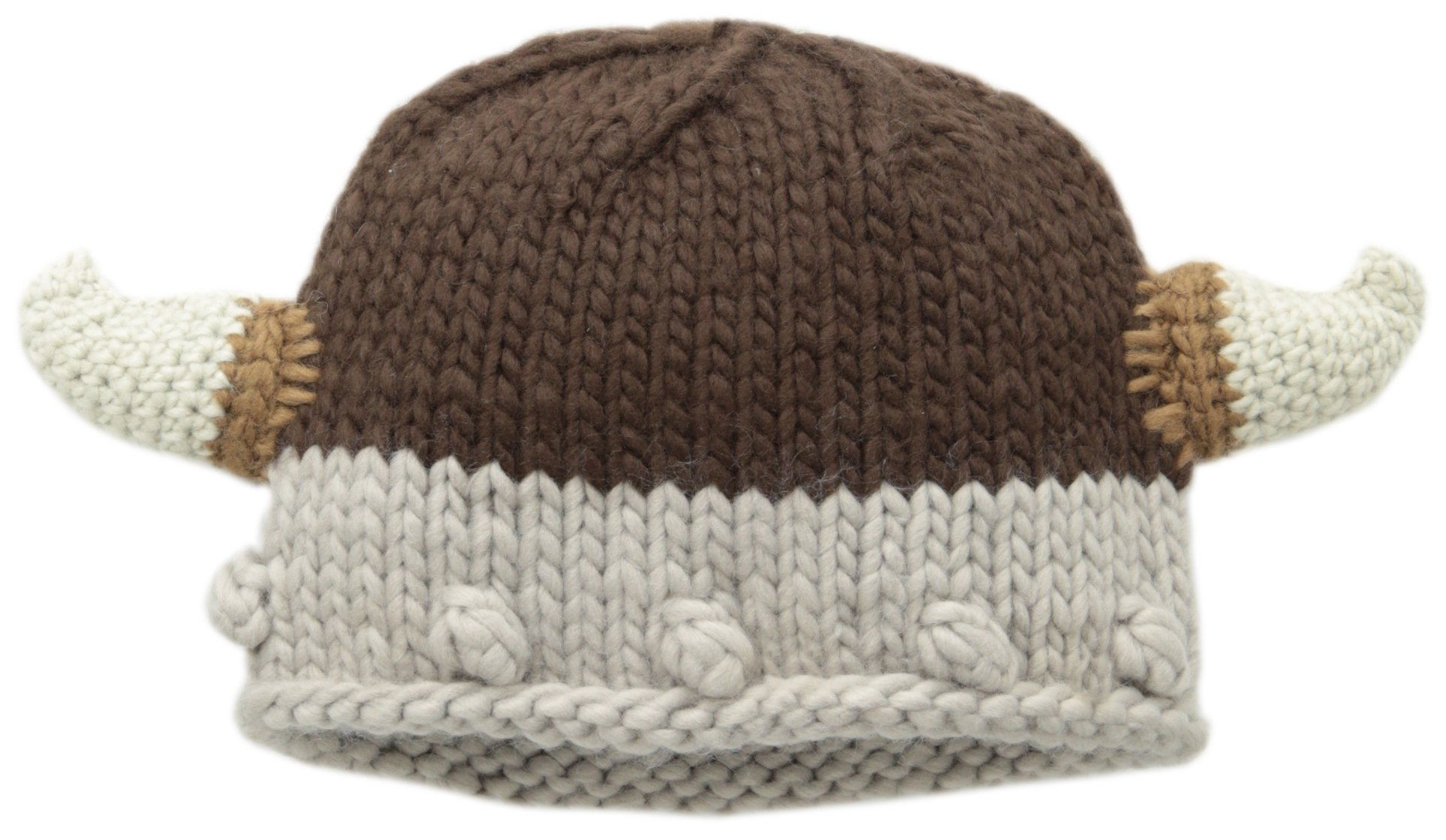 San Diego Hat Little Boys' Knit Viking with Horns, Black, 2-7 Years